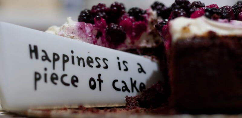 Happiness is a piece of cake image
