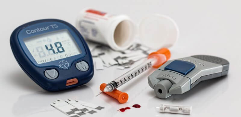 diabetes blood sugar testing kit image