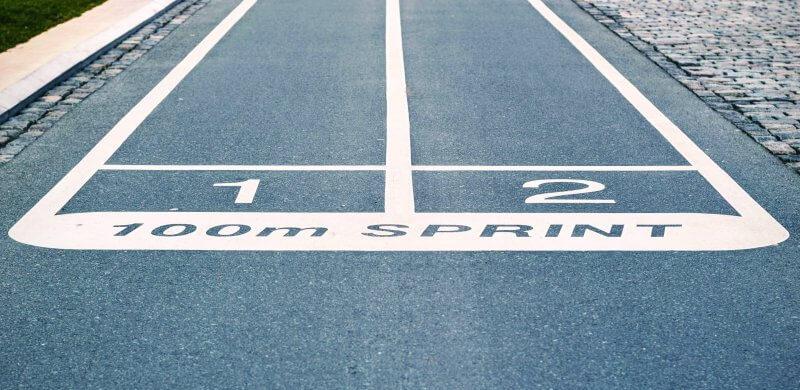 100m sprint track image